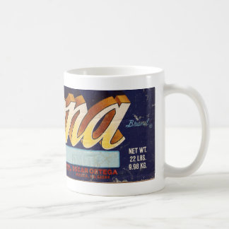 Mona fruit crate design mug