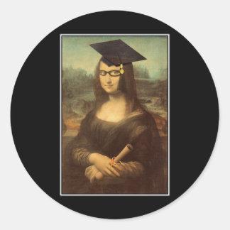 Mona Graduate Round Sticker