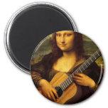 Mona Guitar 6 Cm Round Magnet