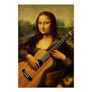 Mona Guitar Print