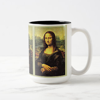 Mona LIsa (1) Two-Tone Mug
