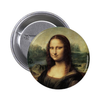 Mona Lisa 6 Cm Round Badge