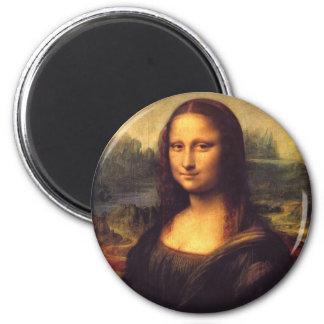 Mona Lisa 6 Cm Round Magnet