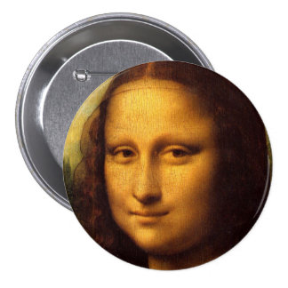 Mona Lisa 7.5 Cm Round Badge