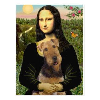 Mona Lisa - Airedale Terrier (#1) Postcard