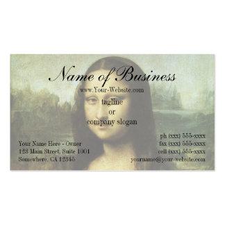 Mona Lisa (aka La Gioconda) by Leonardo da Vinci Business Card Template