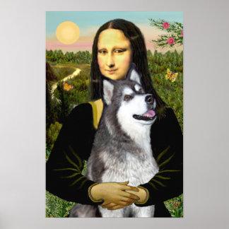 Mona Lisa - Alaskan Malamute Poster