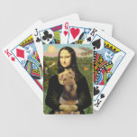 Mona Lisa and her Airedale (#1) Playing Cards