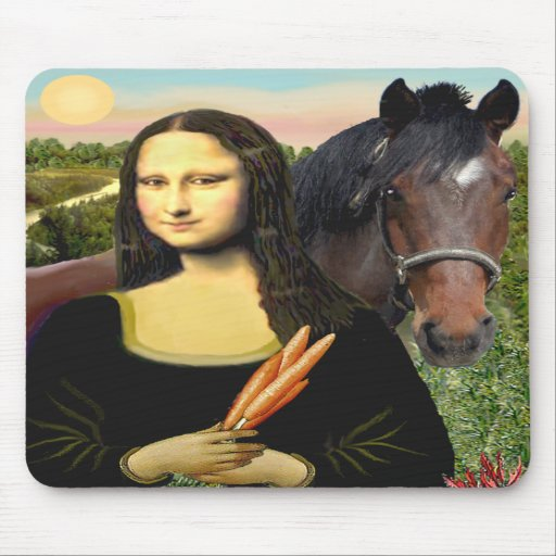 Mona Lisa and her Quarter Horse Mouse Pads