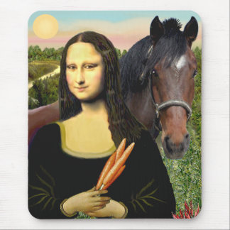 Mona Lisa and her Quarter Horse Mouse Pad