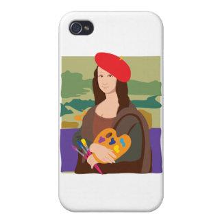 Mona Lisa Artist Case For iPhone 4