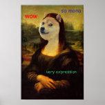 Mona Lisa Artistic Doge Print