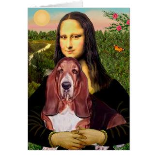 Mona Lisa - Basset Hound #1 Card