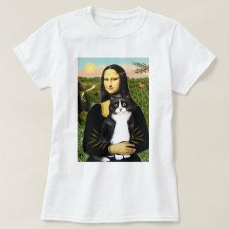 Mona Lisa - black and white cat T-Shirt