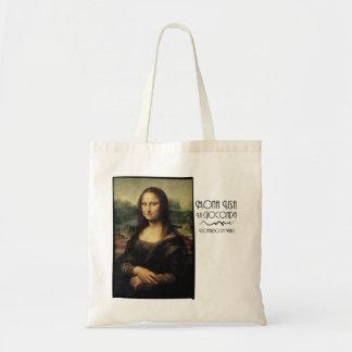 Mona Lisa by daVinci Tote Bags