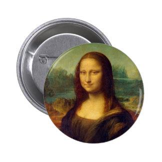 Mona Lisa by Leonardo da Vinci 6 Cm Round Badge