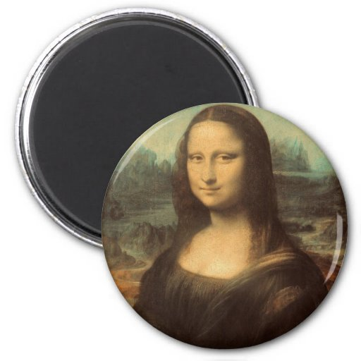 Mona Lisa by Leonardo da Vinci Refrigerator Magnet