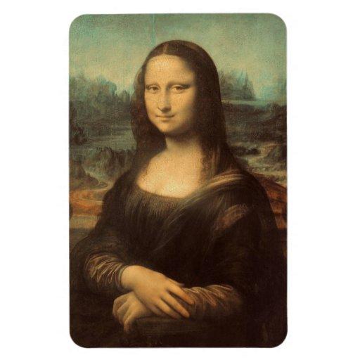 Mona Lisa by Leonardo da Vinci Rectangular Magnet