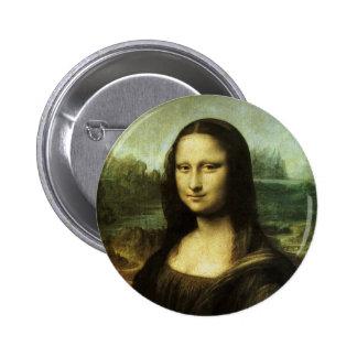 Mona Lisa by Leonardo da Vinci, Renaissance Art 6 Cm Round Badge