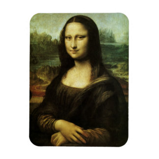 Mona Lisa by Leonardo da Vinci, Renaissance Art Rectangular Photo Magnet