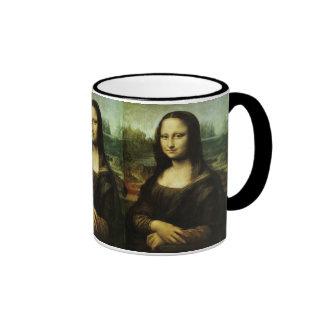 Mona Lisa by Leonardo da Vinci, Renaissance Art Ringer Coffee Mug