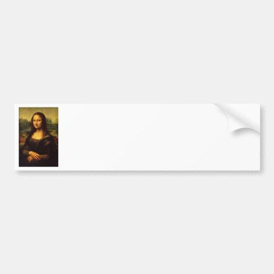 Mona Lisa by Leonardo DE Vinici Bumper Sticker