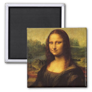 Mona Lisa by Leonardo DE Vinici Square Magnet