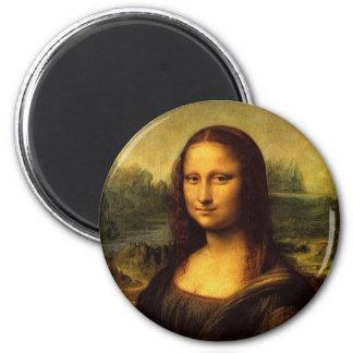 Mona Lisa by Leonardo DE Vinici 6 Cm Round Magnet
