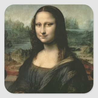 Mona Lisa, c.1503-6 (oil on panel) Square Sticker