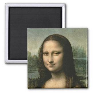 Mona Lisa, c.1503-6 Square Magnet