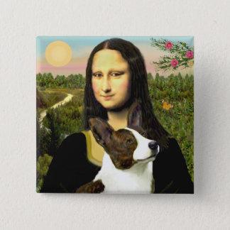Mona Lisa - Cardigan Welsh Corgi 15 Cm Square Badge