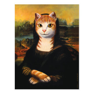 Mona Lisa Cat Postcard