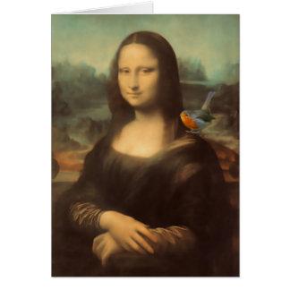 Mona Lisa Christmas Card