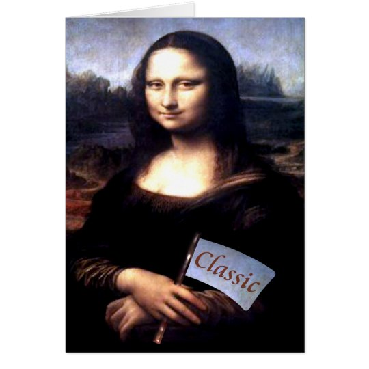 Mona Lisa Classic Birthday Gifts Card