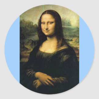 Mona Lisa Classic Round Sticker