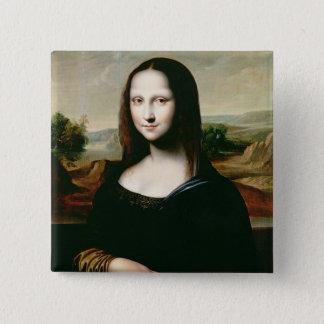 Mona Lisa, copy of the painting by Leonardo da Vin 15 Cm Square Badge