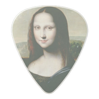 Mona Lisa, copy of the painting by Leonardo da Vin Acetal Guitar Pick