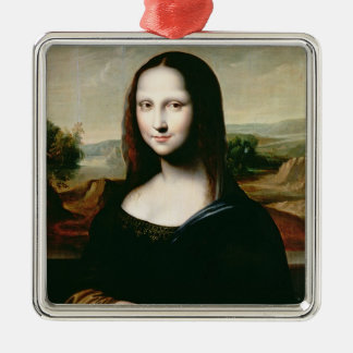 Mona Lisa, copy of the painting by Leonardo da Vin Christmas Ornament