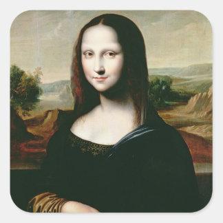 Mona Lisa, copy of the painting by Leonardo da Vin Square Sticker