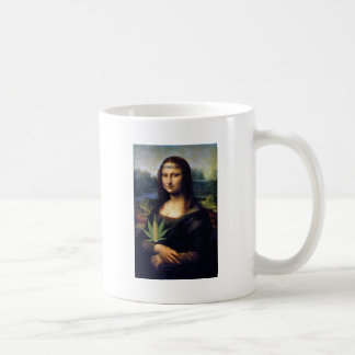 Mona Lisa cornnabis Basic White Mug