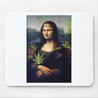 Mona Lisa cornnabis Mousepads