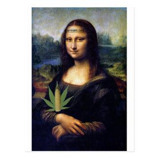 Mona Lisa cornnabis Postcard