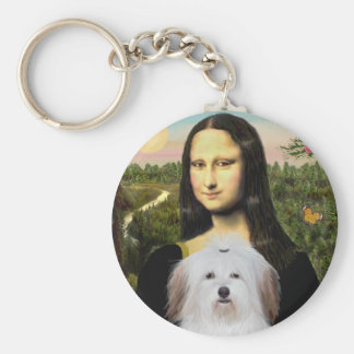 Mona Lisa - Coton De Tulear Key Ring