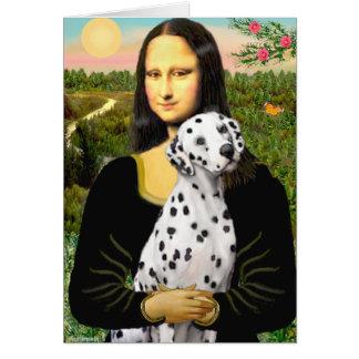 Mona Lisa - Dalmatian Greeting Card