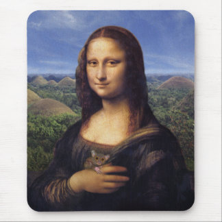 Mona Lisa de Bohol Mouse Pads