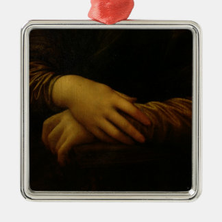 Mona Lisa, detail of her hands, c.1503-06 Christmas Ornament