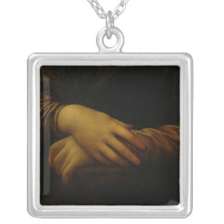 Mona Lisa, detail of her hands, c.1503-06 Silver Plated Necklace