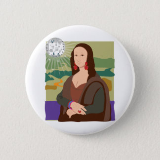 Mona Lisa Disco Lady 6 Cm Round Badge