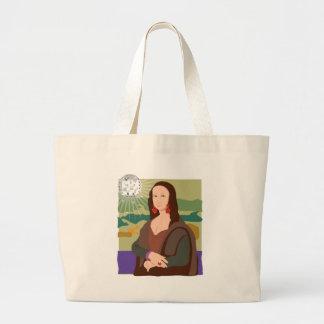 Mona Lisa Disco Lady Canvas Bags
