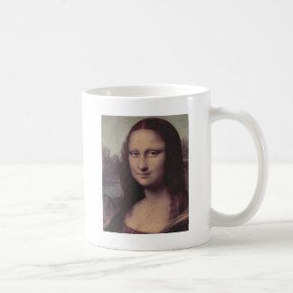 Mona Lisa Face Basic White Mug